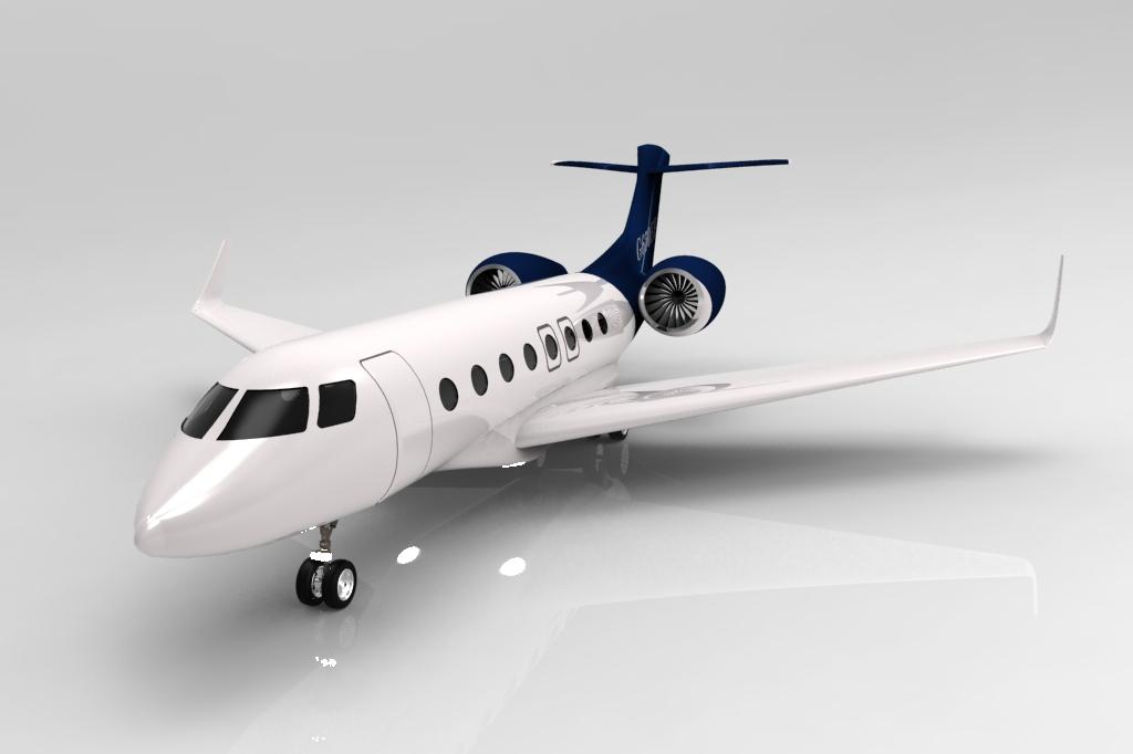 湾流G650ER喷气式飞机模型3D图纸-IGS格式