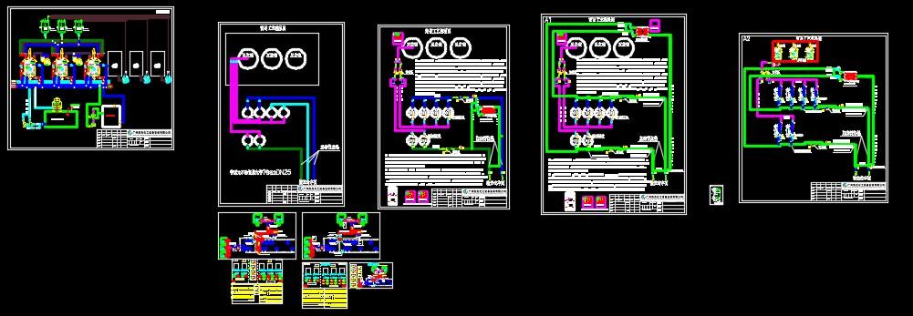 管路与燃气自动化系统图