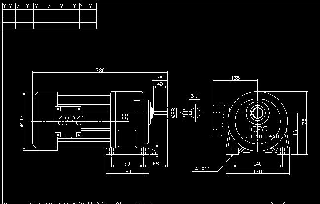0.75KW-1-20  减速电机