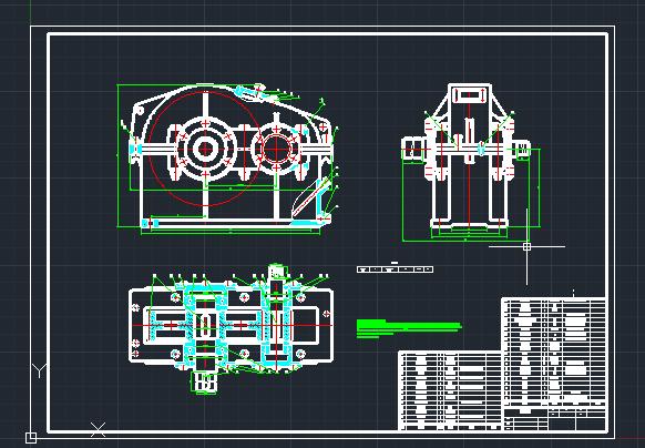 二级齿轮减速器装配图(A1)(1:2)修改过的5