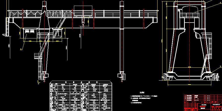 A型40t22mA型双梁箱型门式起重机设计(内含结构图,起升机构图,大车小车运行机构图)