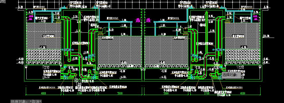 曝气生物滤池设计图