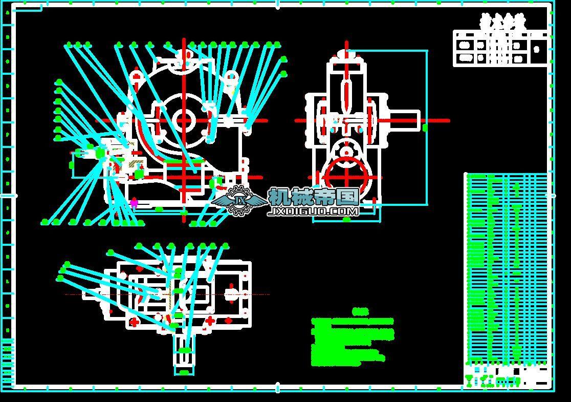 齿轮-蜗轮蜗杆减速器装配图