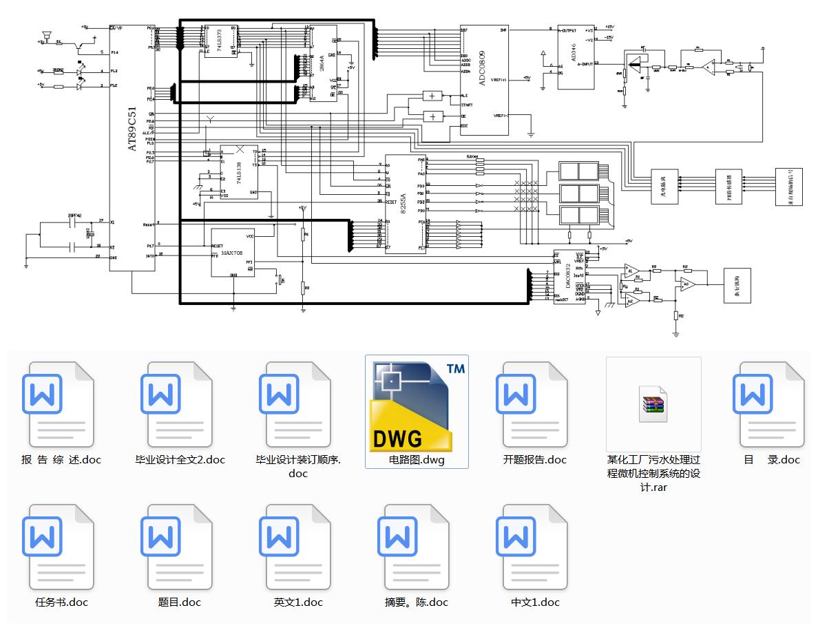 某化工厂污水处理过程微机控制系统的设计(论文+DWG图纸+开题报告+外文翻译+文献综述)