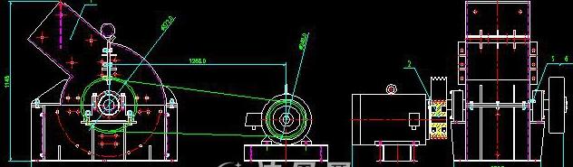 锤式破碎机PC300X400