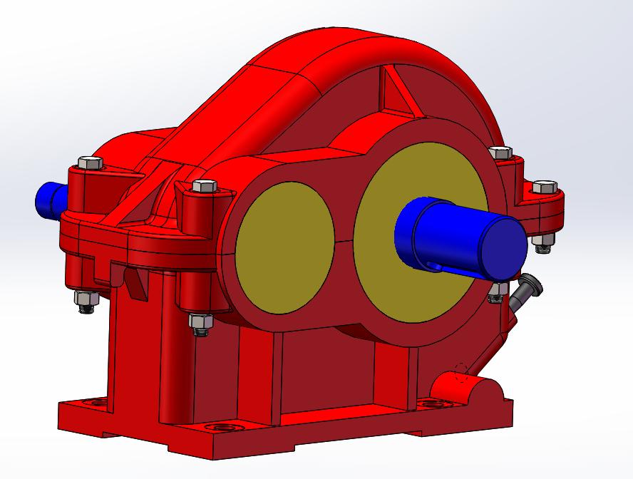 单级圆柱斜齿轮减速器