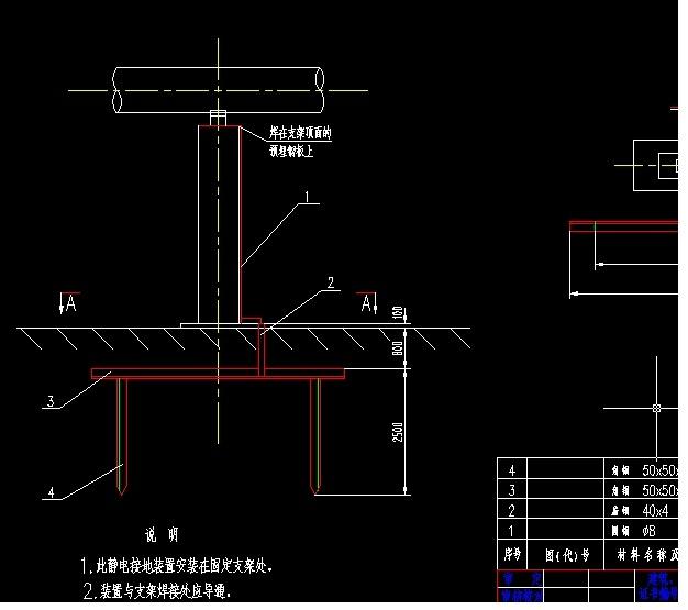 煤气管道静电接地图