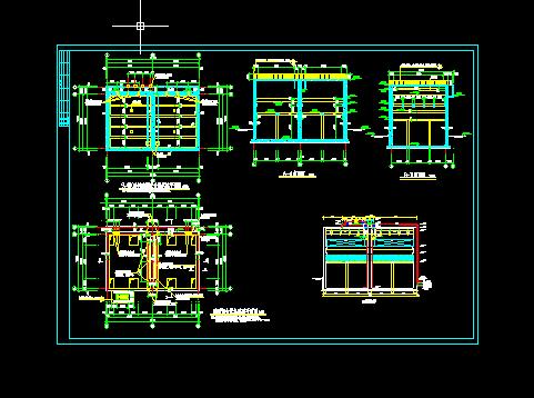 UASB设备(三相分离器)详细cad施工设计图