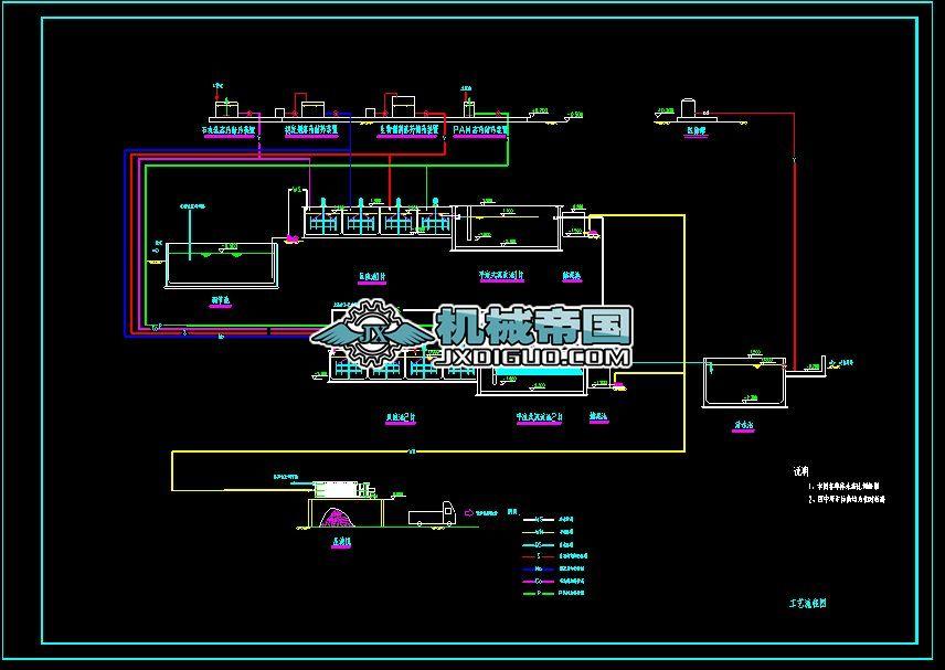 有色金属废水处理流程图及布置图