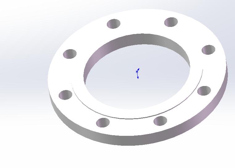 平面突面板式平焊钢制管法兰 GB_T9119-2000_DN150-PN10-RF-I