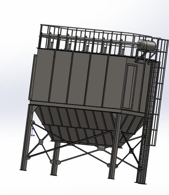 PPCS64-5气箱式脉冲袋式除尘器三维图