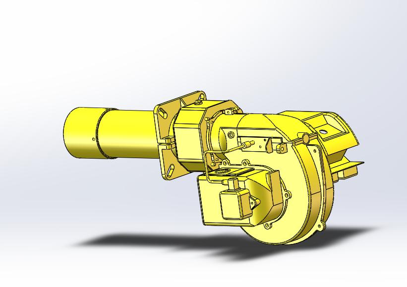 废气处理设备燃烧机三维图